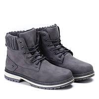 Польские ботинки серого цвета еврозима, фото 1