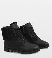 Польские ботинки из эко кожи на шнуровке, фото 1