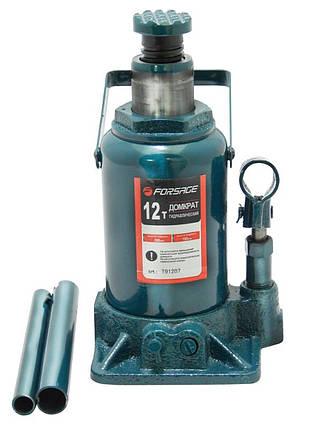 Домкрат бутылочный 12т низкий с клапаном, h.min=185 мм, h.max=335 мм, F-T91207 FORSAGE, фото 2
