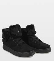 Повседневные тёплые ботинки чёрного цвета, фото 1
