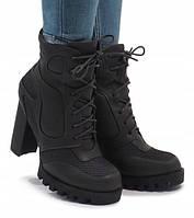 Осенне-зимние ботильоны для девушек на каблуке, фото 1
