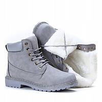 Ботинки серого цвета очень тёплые и удобные, фото 1