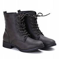 Удобные в носке женские зимние ботинки на шнуровке, фото 1