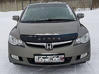 Дефлектор капота (мухобойка) HONDA Civic с  2006 г.в.седан