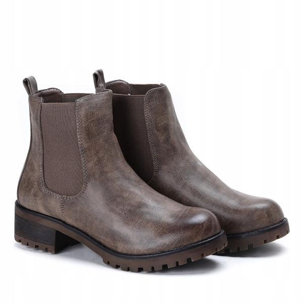 Женские ботинки по бокам на резинке