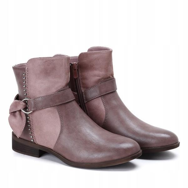 Женские ботинки комбинированные на низком ходу