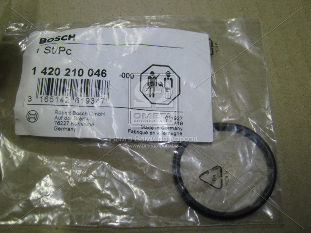 Уплотнит кольцо (пр-во Bosch) 1 420 210 046