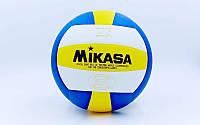 Мяч волейбольный Клееный PU MIK VB-0030 MVP-200