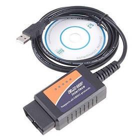 Автомобильный сканер BAZ USB ELM327 V1.5 OBD2 (6527)