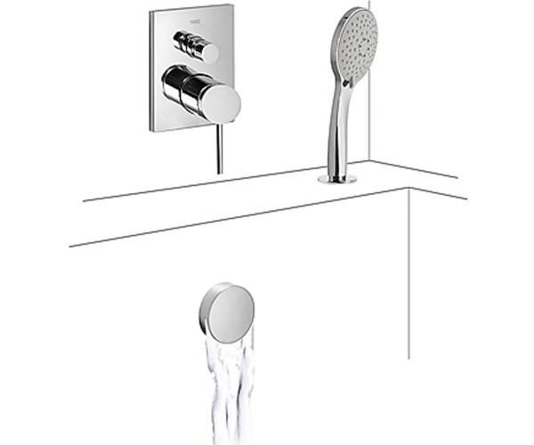 Встраиваемый смеситель для ванны и душа Tres Mono-Term 062.180.12