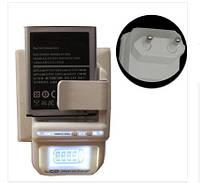 """Зарядний """"жабка"""" для акумуляторів Li-Ion на будь-смартфони з LCD екраном і USB"""