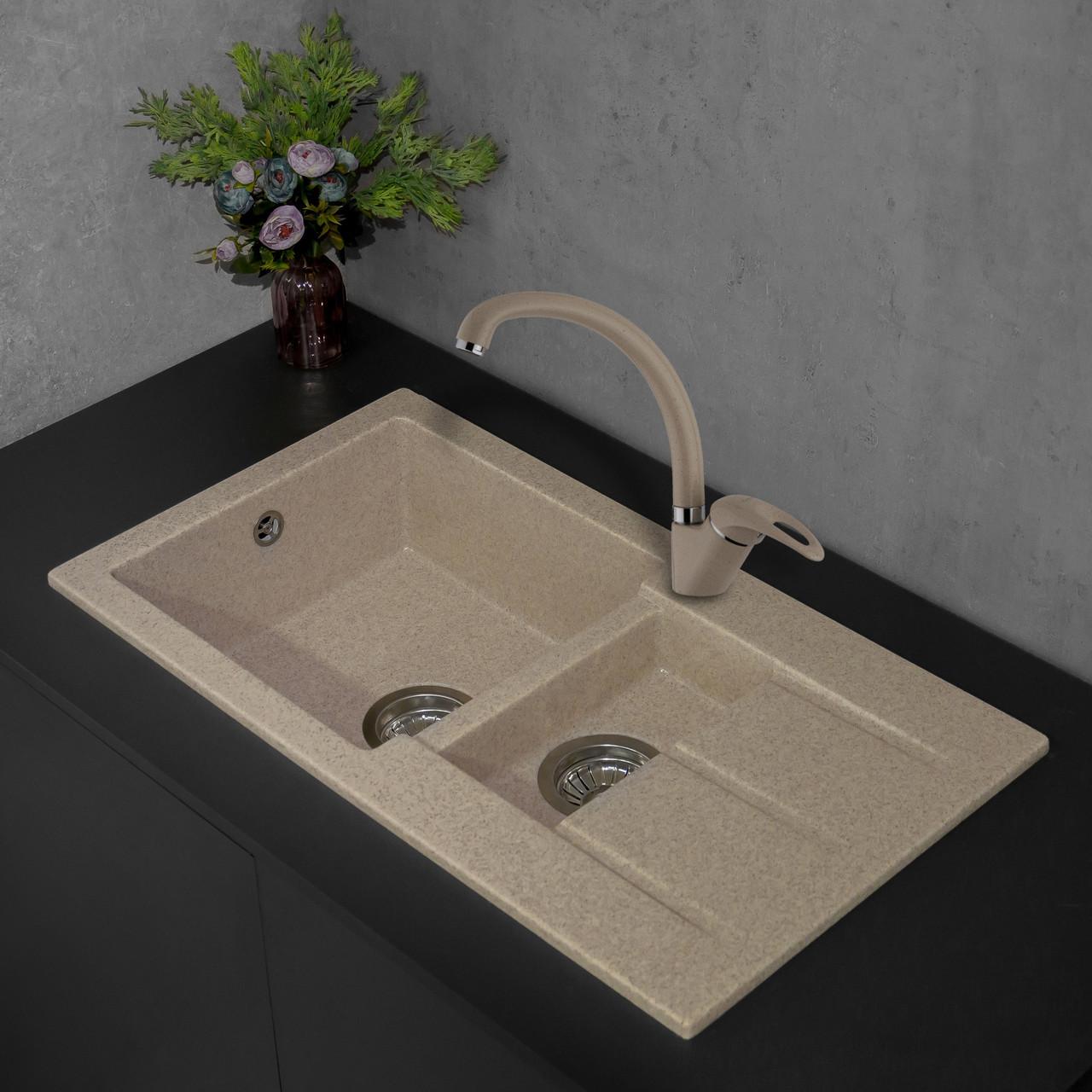Кухонная мойка Fancy Marble Alabama 206080007