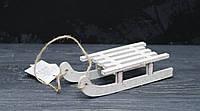 Новогодняя игрушка на елку - сани средн., фото 1