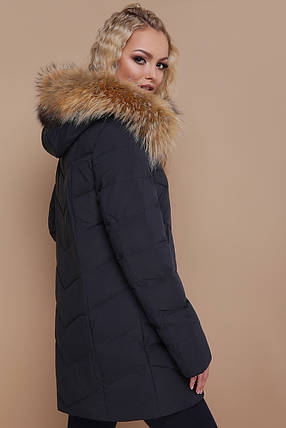 ЖЕНСКАЯ зимняя куртка с капюшоном 18-182, фото 2