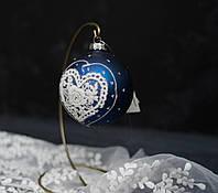 Новогоднее украшение - игрушка с кружевом, фото 1