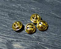Набор бубенцов золотых маленьких 4шт