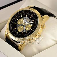 Мужские наручные часы Breitling Quartz Gold Black Брейтлинг качественная люкс реплика