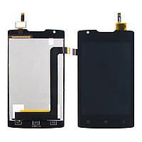 Дисплей для Lenovo A1000 (смартфон) с чёрным тачскрином