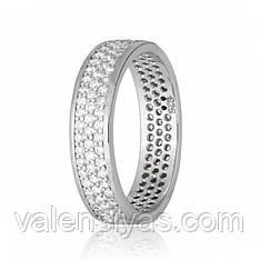 Серебряное кольцо с фианитами КК2Ф/374