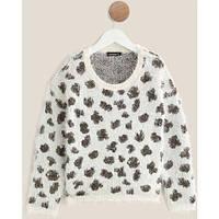 Новый теплый свитерок травка для девочки In extenso белый 3-6 лет