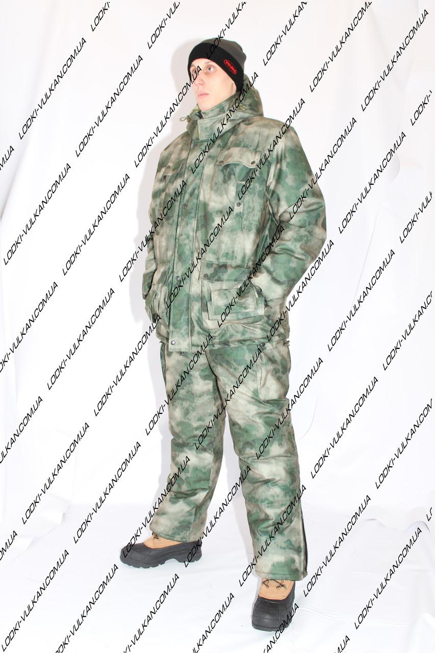 Зимний костюм для рыбалки или охоты Атака Зеленая -25С