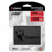 """SSD диск 120Gb, Kingston SSDNow A400, SATA3, 2.5"""", TLC, 500/320 MB/s (SA400S37/120G), твердотельный накопитель ссд 120 Гб для ноутбука и ПК"""