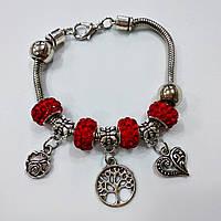Браслет Пандора роза, дерево, сердце 2