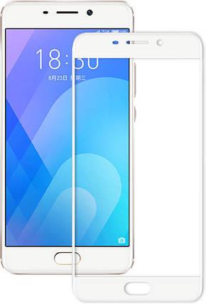 Защитное стекло для Meizu M6, Full Cover White, фото 2