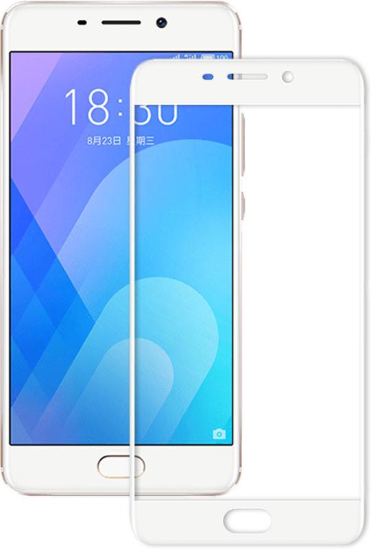 Защитное стекло для Meizu M6, Full Cover White