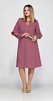 Платье Lady Secret-3543/4 белорусский трикотаж, увядшая роза, 52