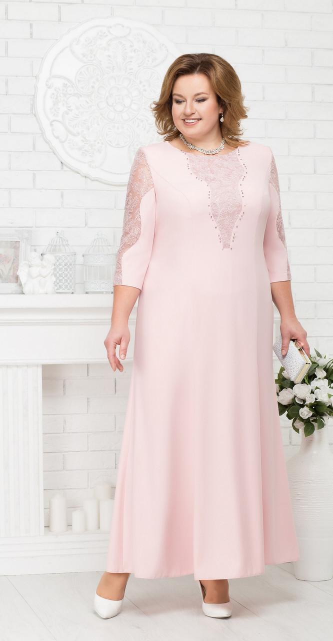 Платье Ninele-5682 белорусский трикотаж, пудра, 54