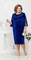 Платье Ninele-5684 белорусский трикотаж, василек, 56