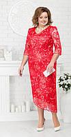 Платье Ninele-7218 белорусский трикотаж, красный, 52