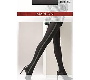 Фантазийные колготки Marilyn ALLURE N 24 с лампасами 60 den