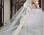 Фата длинная кружевная белая 14002, фото 4