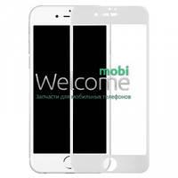 Защитное стекло iPhone 7 (0.3 мм, 3D, белое, полное,с олеофобным покрытием, и покрытием Silk Screen)