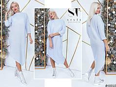 Элегантное вязаное платье наискось