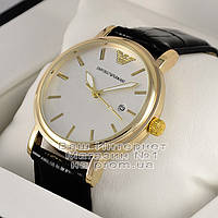 Мужские наручные часы Emporio Armani Quartz Gold White Эмпорио Армани кварц качественная люкс реплика, фото 1