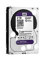 "Жесткий диск для компьютера 3.5"" 2 Тб/Tb Western Digital Purple, SATA3, 64Mb, 5400 rpm (WD20PURZ), винчестер hdd"