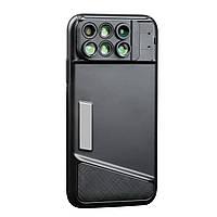 Чехол для iPhone X/XS 6 линз макро/рыбий глаз/широкоугольный объектив Черный (44000X1)