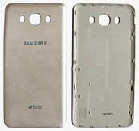 Задняя крышка Samsung Galaxy J7 (J710, 2016) золотистая , сменная панель самсунг
