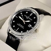 Женские наручные часы Ulysse Nardin Quartz Silver Black Dimond Улис Нардин качественная люкс реплика, фото 1
