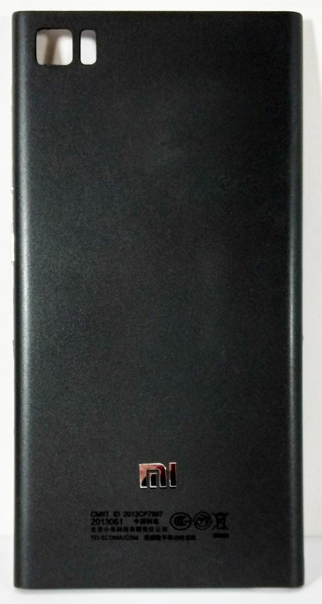 Задняя крышка (панель, корпус) Xiaomi Mi3 black, сменная панель