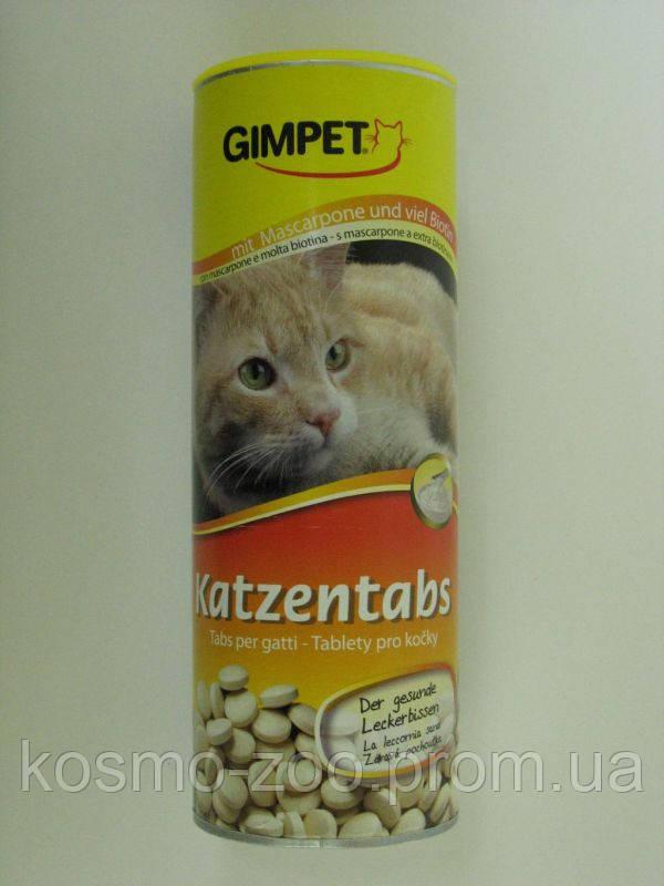 Витаминизированное лакомство Джимпет (Gimpet) для кошек с сыром маскарпоне и биотином 710 таб