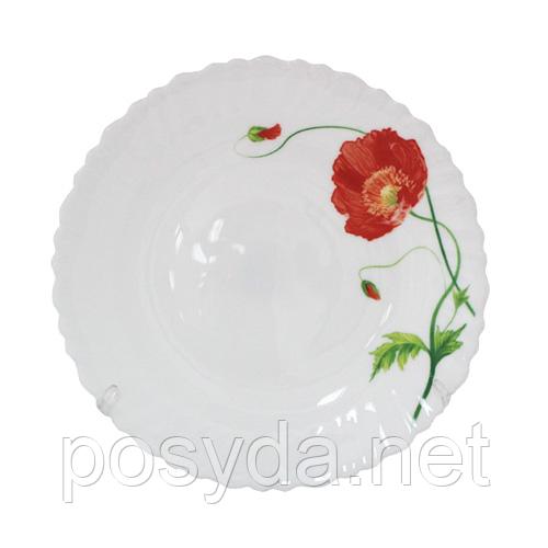 """Тарелка десертная """"Красный мак"""", 19 см"""