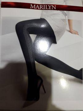 Фантазийные колготки Marilyn ALLURE N 09 со стразами сбоку, фото 2