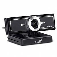 Веб камера Genius WideCam F100 Black, 2.0 Mpx, 1920x1080, USB 2.0, встроенный микрофон