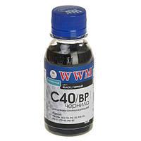 Чернила WWM Canon PG-37/40/50, PGI-5Bk, BCI-15, Black Pigment, 100 г (C40/BP-2), краска для принтера