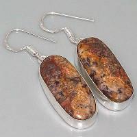Серебряные серьги с мексиканской яшмой