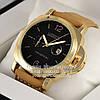 Мужские наручные часы Officine Panerai Luminor Marina GMT Automatic Ceramic Quartz Gold Black реплика